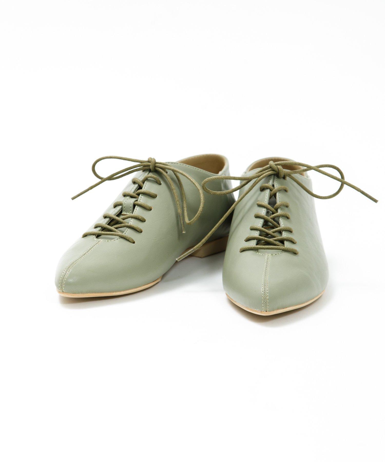 ポインテッドレースUP靴