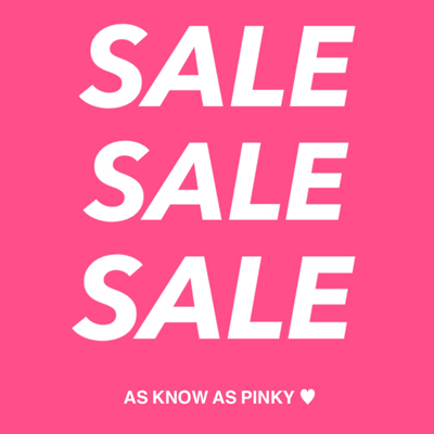 AS KNOW AS PINKY SALE情報